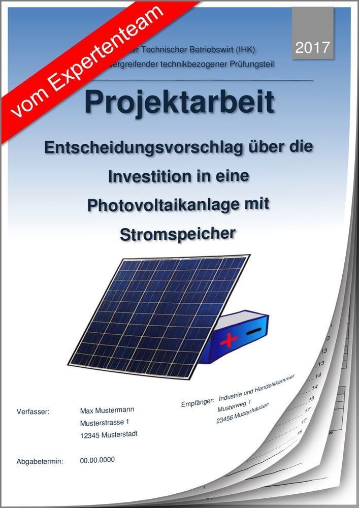 technischer betriebswirt tbw projektarbeit prsentation ihk photovoltaik 1 - Projektarbeit Betriebswirt Ihk Muster