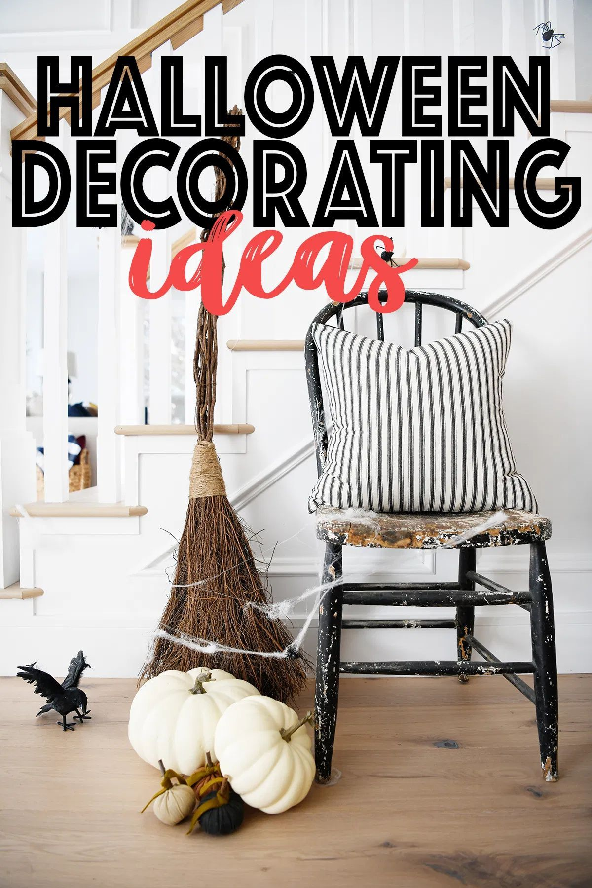 Cute and perfectly spooky Halloween home decor ideas. #Halloween #HalloweenDecor #Decor #PinkPeppermintDesign