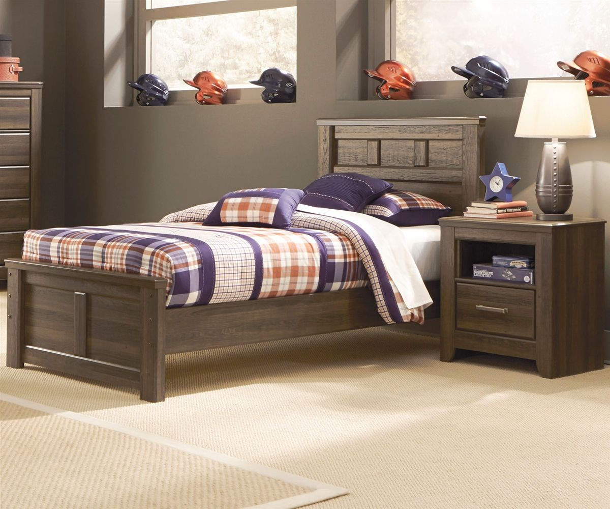 juararo twin size panel bed room