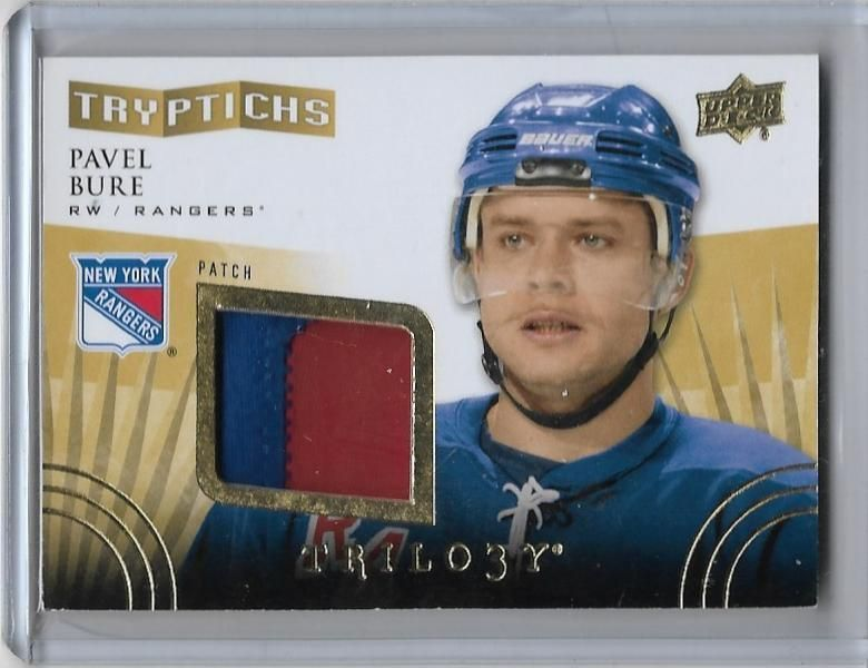 201415 ud trilogy trypitchs pavel bure 2 colur jersey 25
