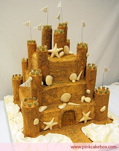 Cake Decorating Making Sand : Sandcastle Cake   Bat Mitzvah Cakes Sand castle cakes ...