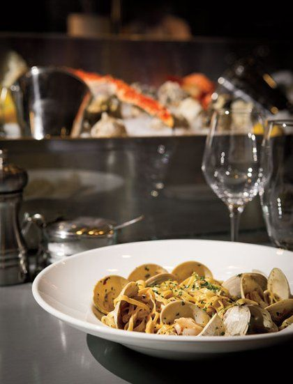 The House Made Linguini Is Served With Littleneck Clams 801 Fish Kansas City Spaces Food Preparation Food Tasting