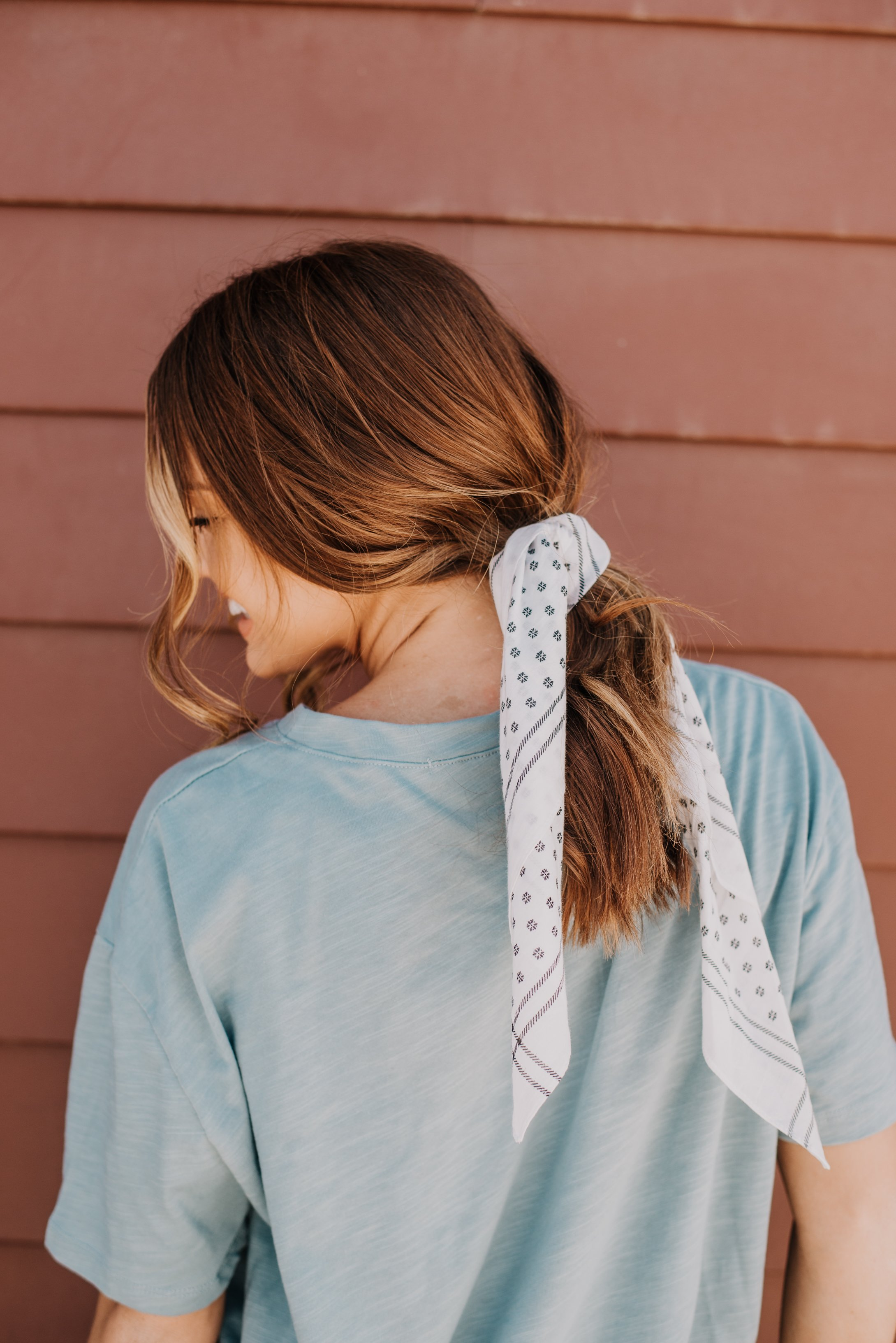 The daisy dot bandana in white graceus garments pinterest