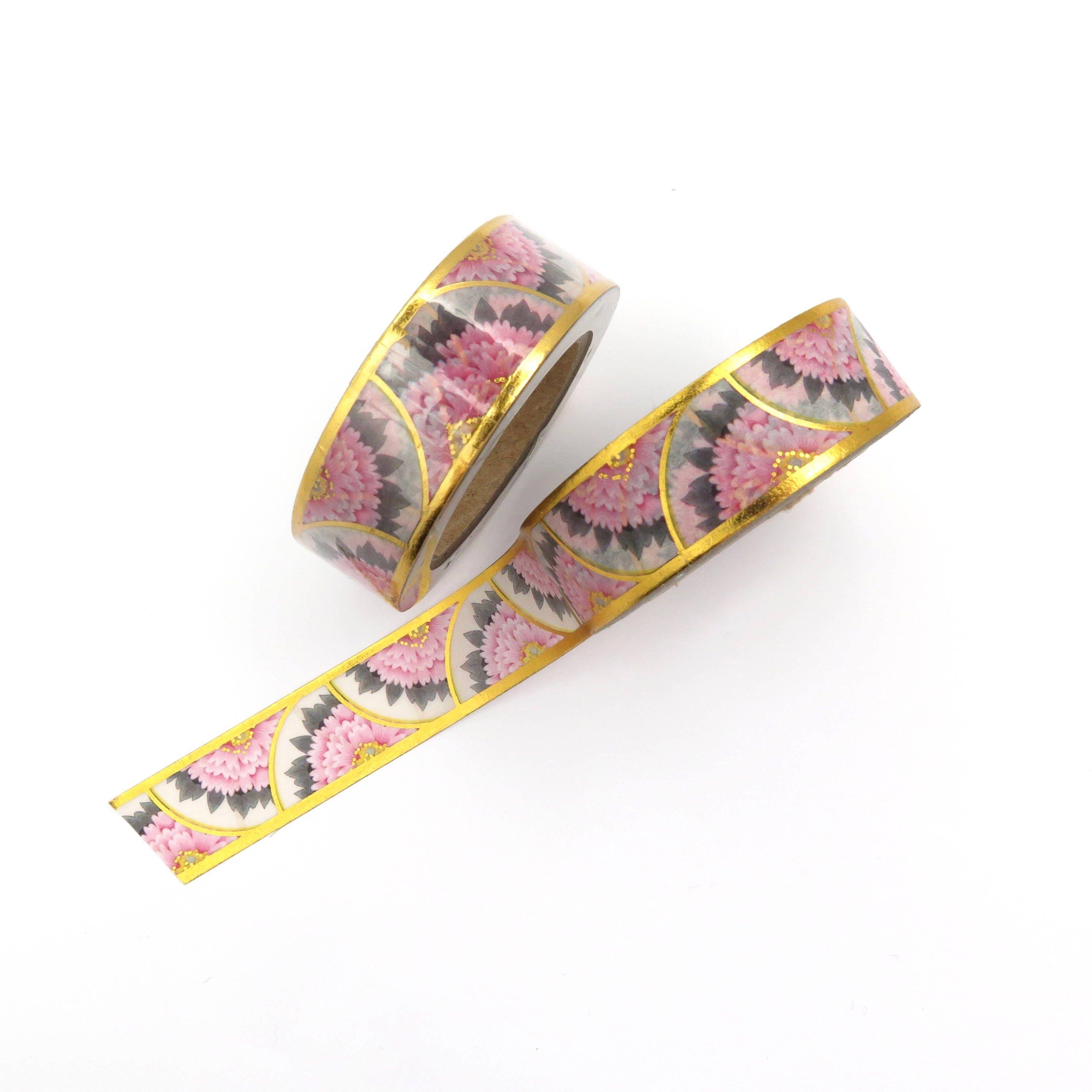Washi Tape Art Deco Scrapbooking Tape Craft Tape Gold Foil