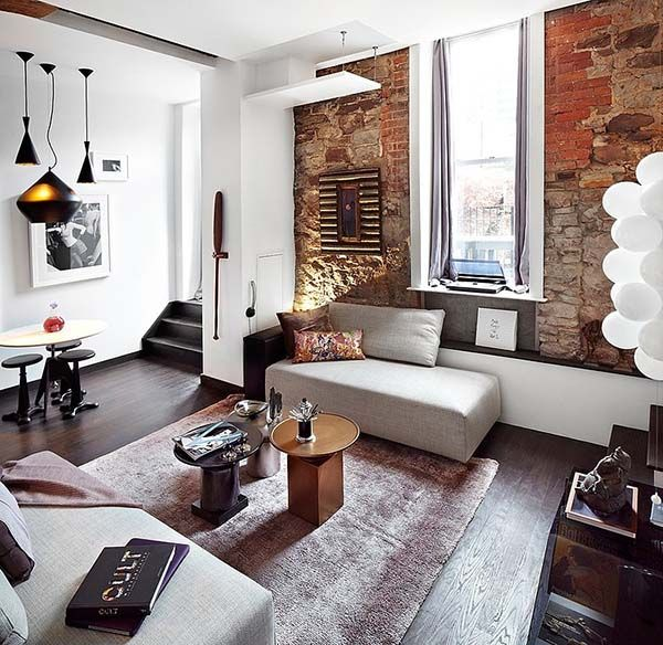 Creative design solutions exhibited by fashionable Toronto loft