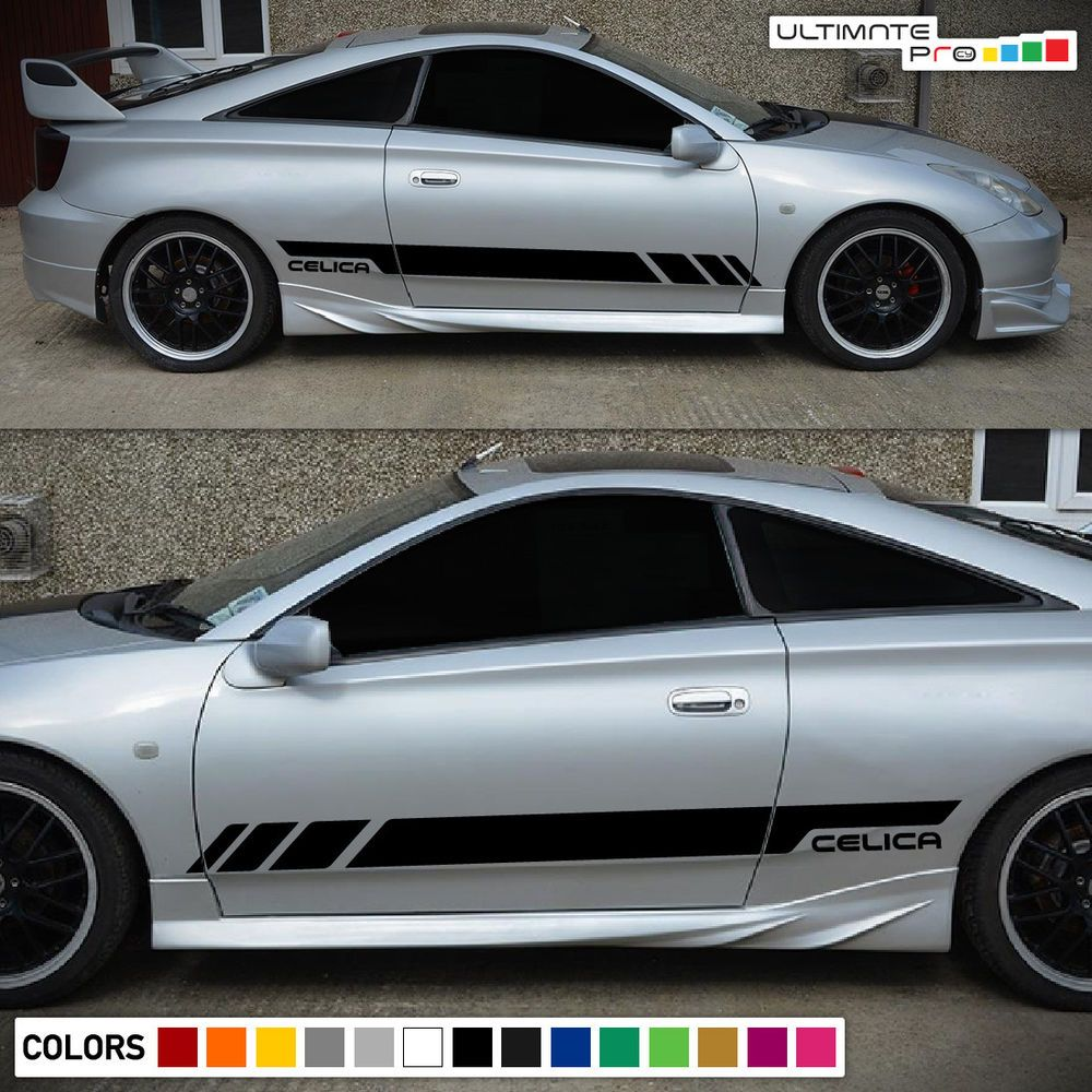 1999 Celica: Details About Sticker Decal Side Door Stripes For Toyota