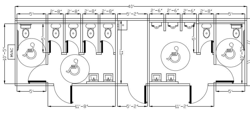 Ada Bathroom Layout Bathroom Floor Plans Restroom Design Ada