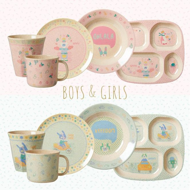 Bamboo and Melamine Childrens dinner sets by Rice at Vibrant Home  sc 1 st  Pinterest & Bamboo and melamine kids cups plates and bowls by Rice Dk at ...