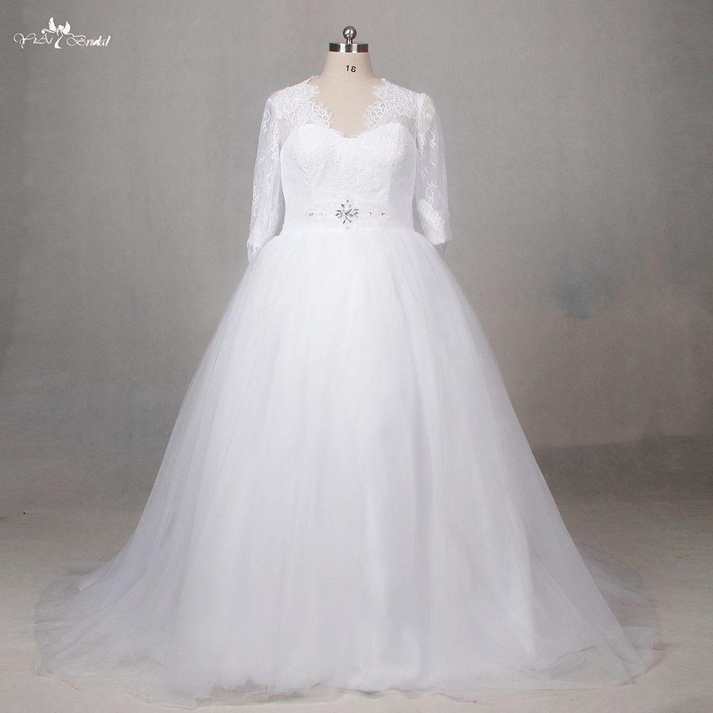Click to buy ucuc lz alibaba vneck alline wedding dress long