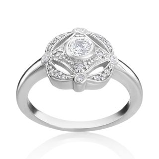 Shop for Andrew Charles 14k White Gold 1/3ct TDW Diamond Antique Ring (H-I…