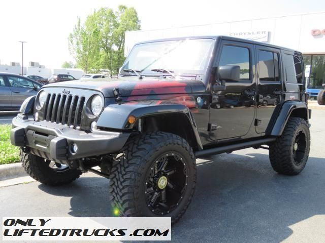 Custom 2017 Jeep Wrangler Unlimited Lifted Sahara For Sale In