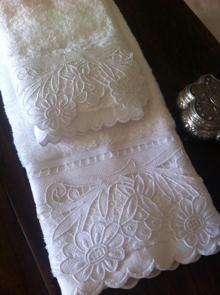 Cutwork Embroidery Edging for Hand Towels