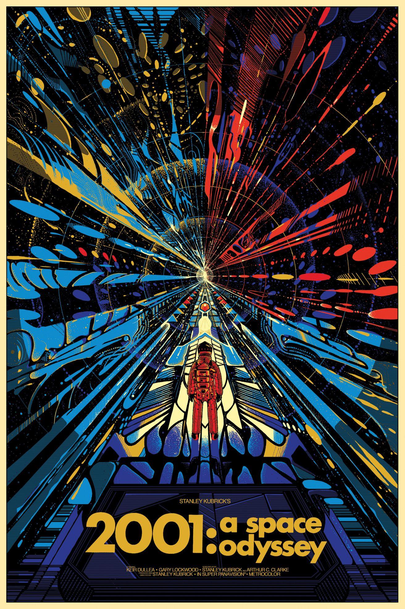Movie Art Poster Fan Art Movie Print 2001 A Space Odyssey Cult Classic