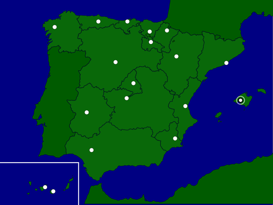 Map Of Spain Quiz.Spain Autonomous Communities Capitals Map Quiz Game Spain And