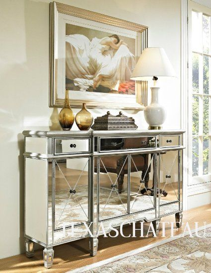 French Chic Mirrored Mirror Furniture Bedroom
