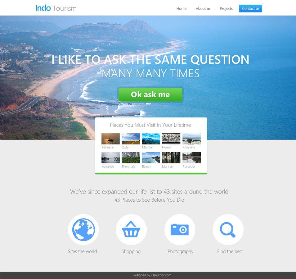 Beautiful Travel and Hotel Website Template PSD - cssauthor.com ...