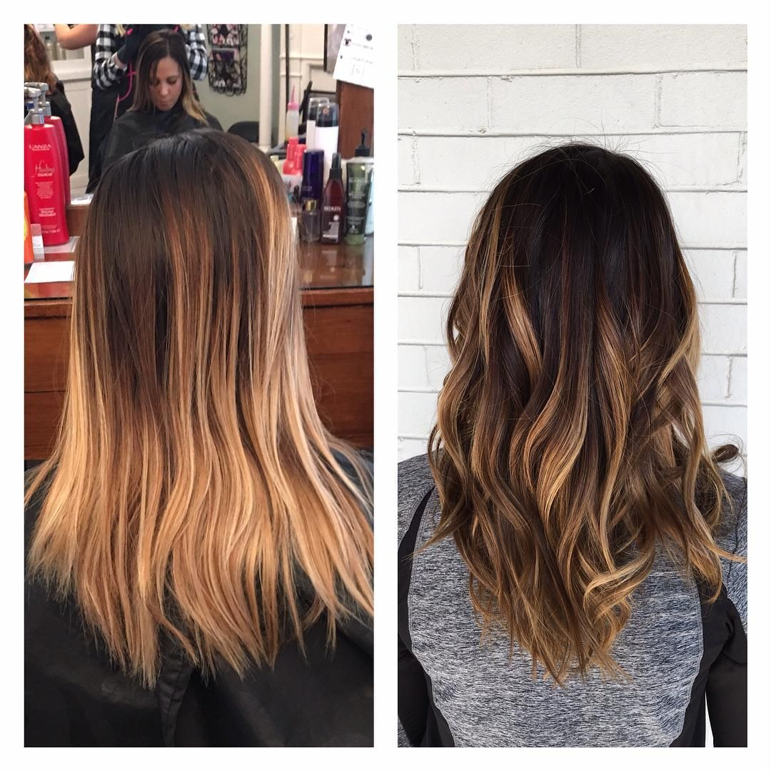 """I seriously love doing Shelby's hair it always turns out gorgeous. Today we added some dark pieces for depth and dimension to for fall """