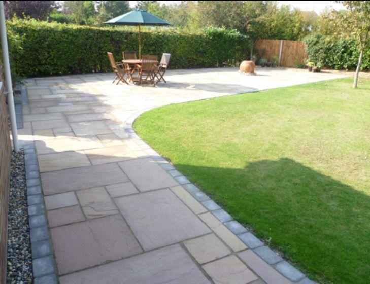 L Shape Garden Paving Garden Tiles Garden Paving Patio