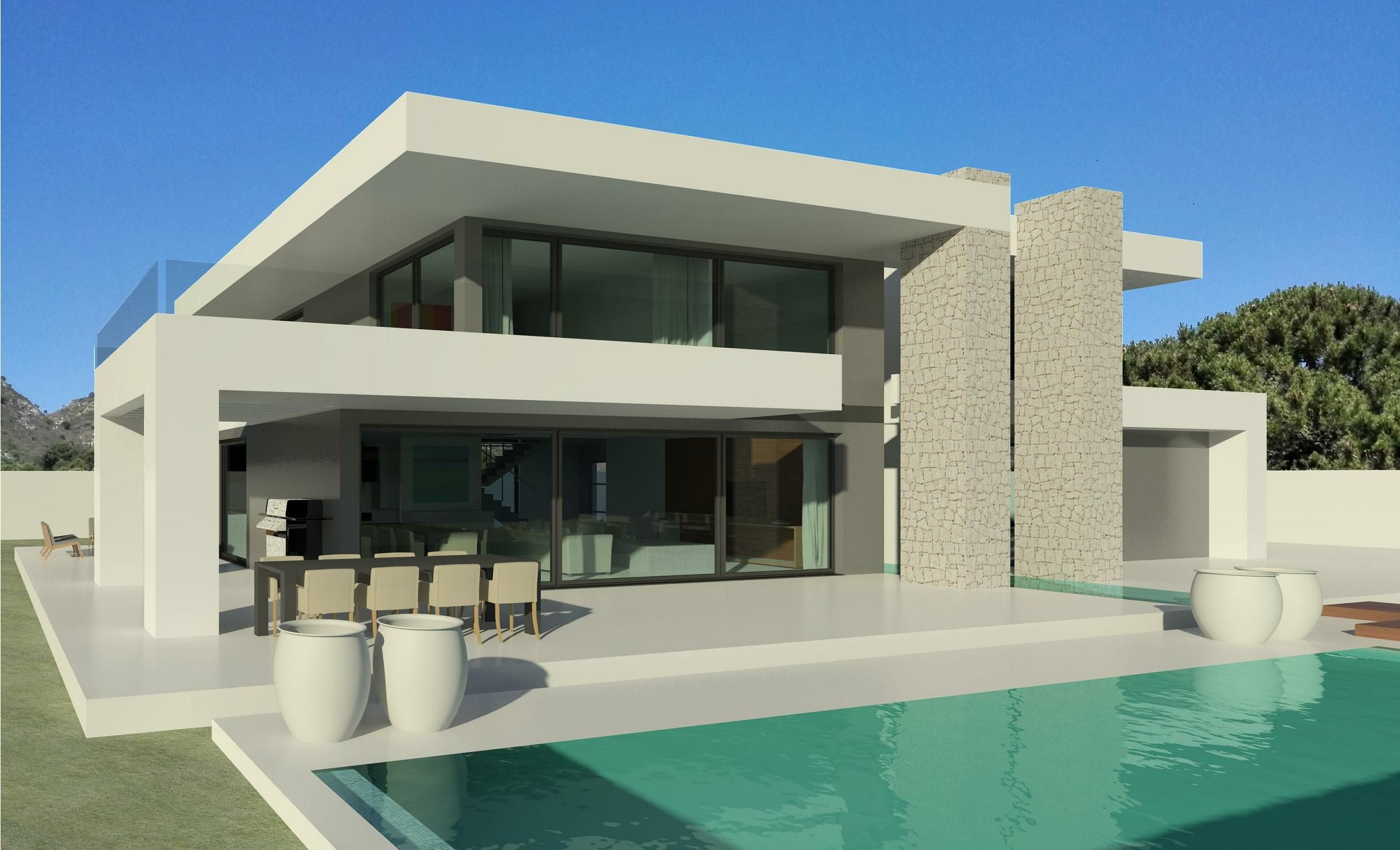 Modern villa plan dwg architecture is both the process and the product of planning designing and constructing buildings or any other structures
