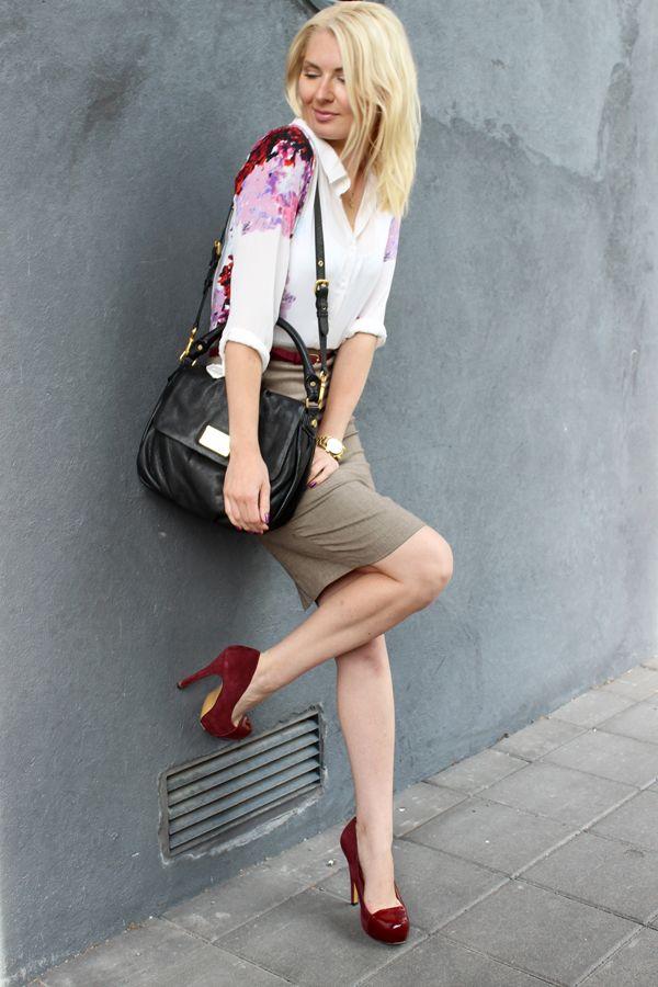 Shirt: Sheinside / Skirt: Zara / Shoes: Diavolina / Bag: Marc Jacobs