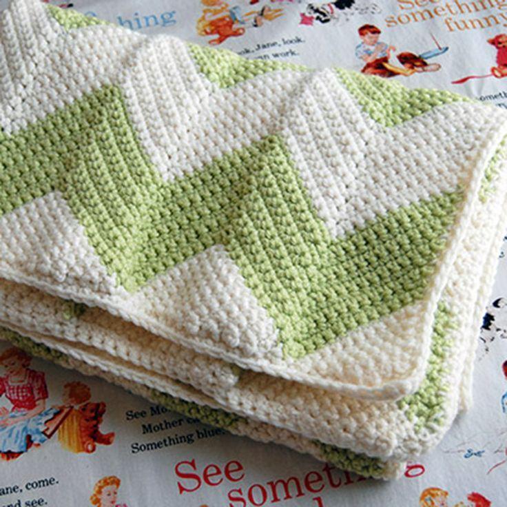 FREE crochet chevron blanket pattern with a straight edge | Crochet ...