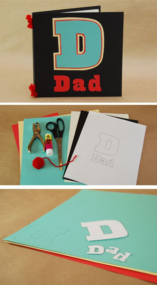 lovinglyhandmade Projects to try Pinterest – Birthday Card for Dad from Kids