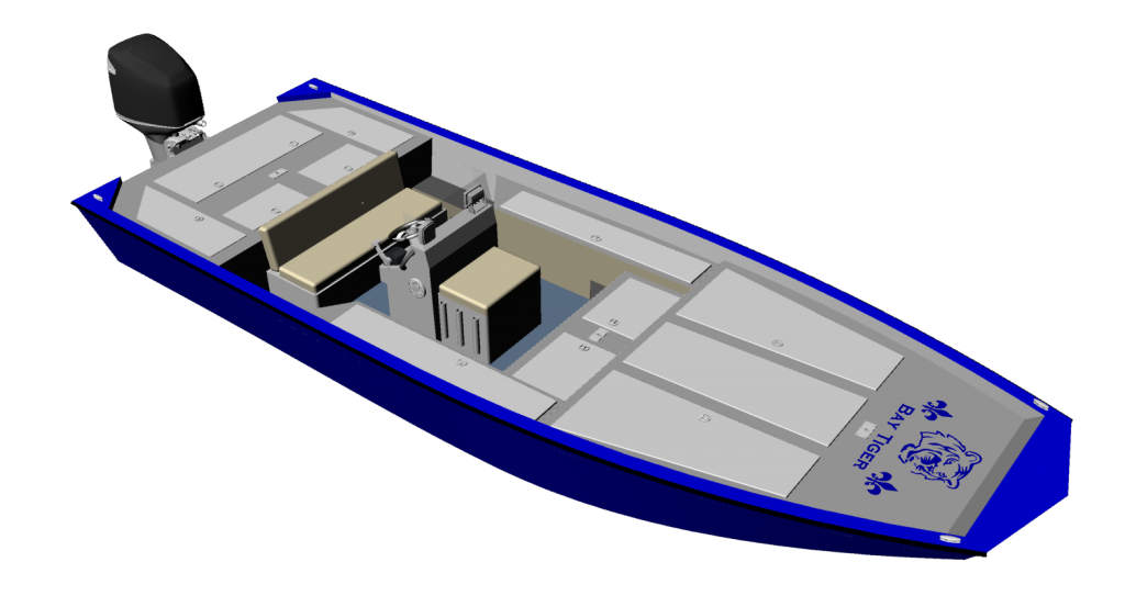 New Aluminum Bay Boat Plans with many of the comforts of a