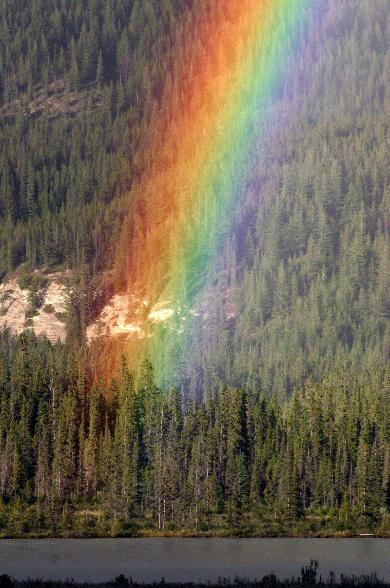 The end of a rainbow.