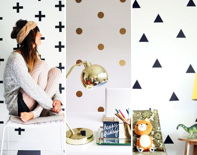 Weu0027re Crushing Hard On These Geometric Wall Decals