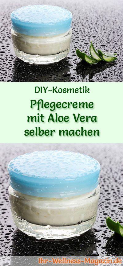 Pflegecreme mit Aloe Vera selber machen - Rezept und Anleitung