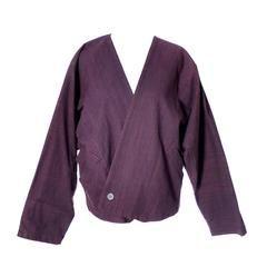 Issey Miyake Plum Vintage Jacket Top Japan Slouchy Oversize Kimono Style