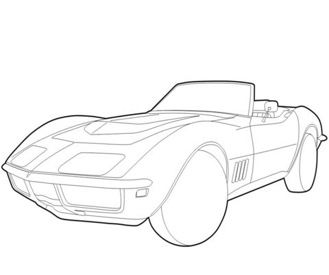 Coloring Fun For The Corvette Kid Chevrolet CorvetteColoring PagesColouring PagesPrintable