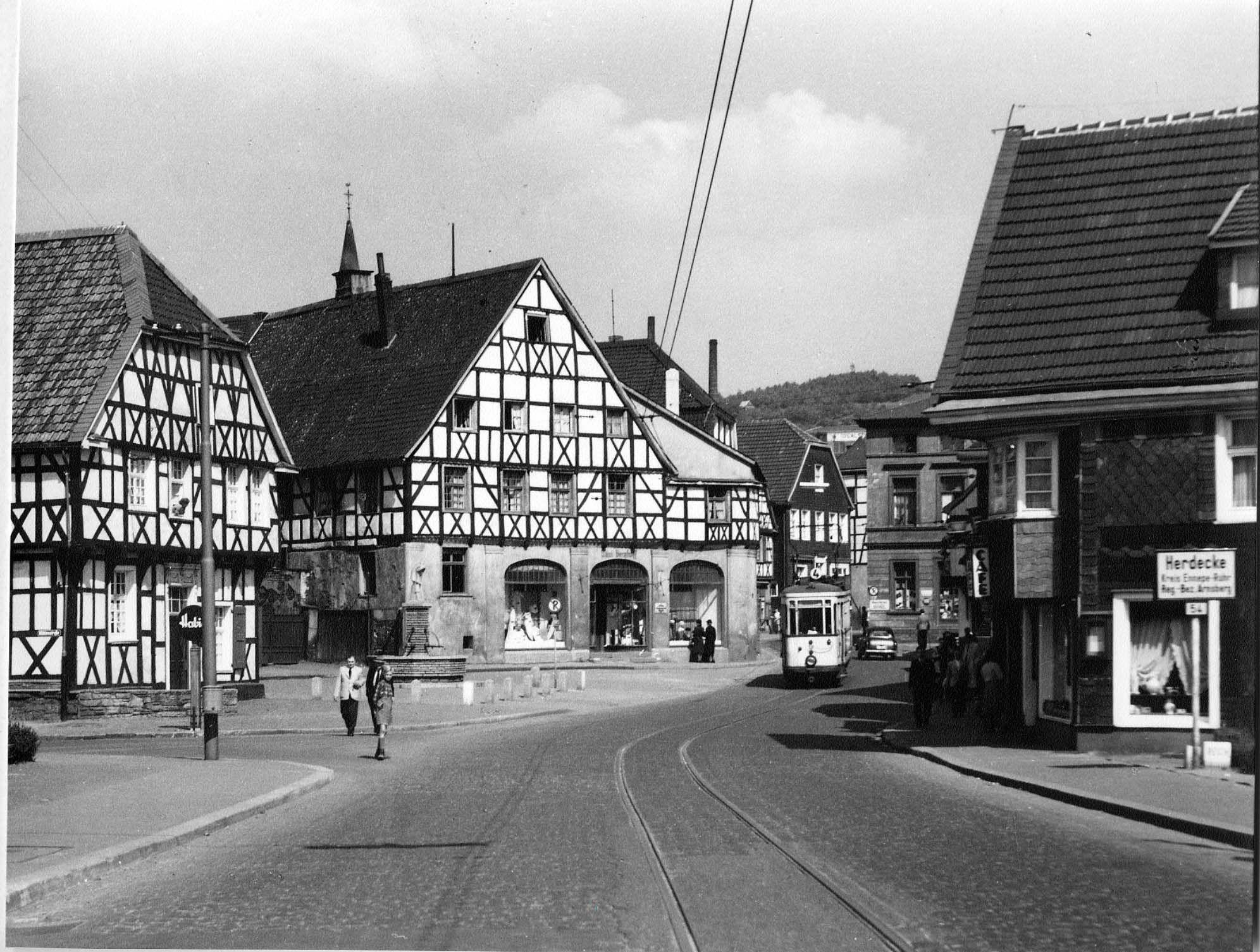 Hauptstraße, Herdecke, Westfalen, 50er Jahre Historische