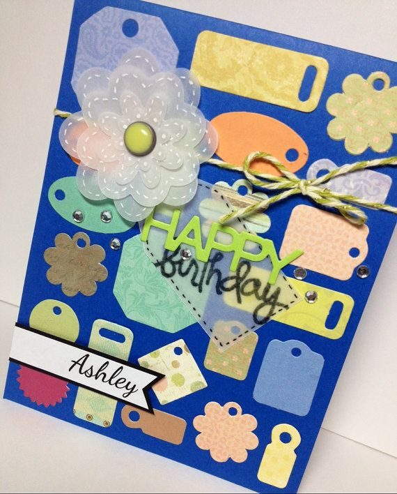 Personalized Birthday Card Tag Collage Card Custom Birthday Card – Custom Birthday Card