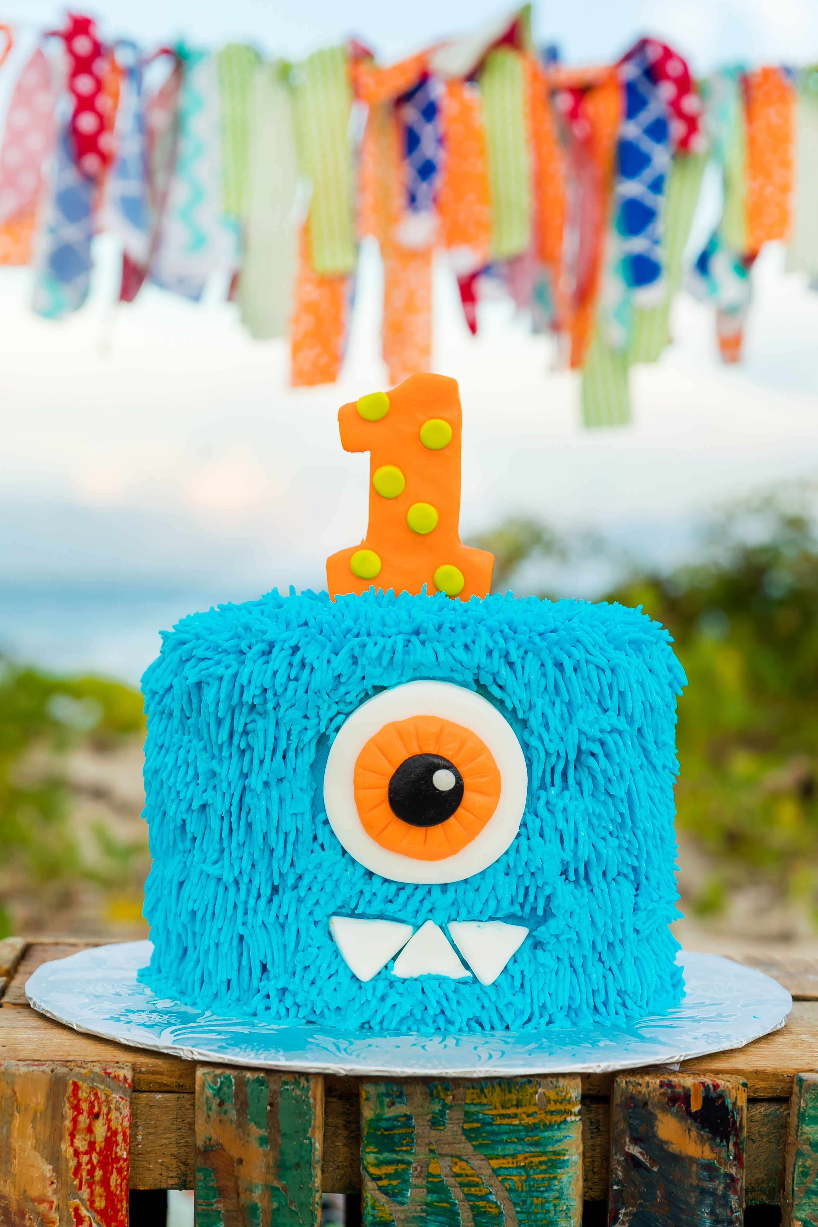 Monster Themed Cake Smash Lil Monster Cake Smash Baby S First
