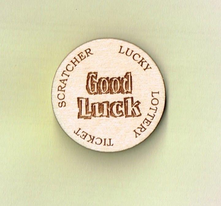 Details about Lucky Lottery Ticket Scratcher wooden token