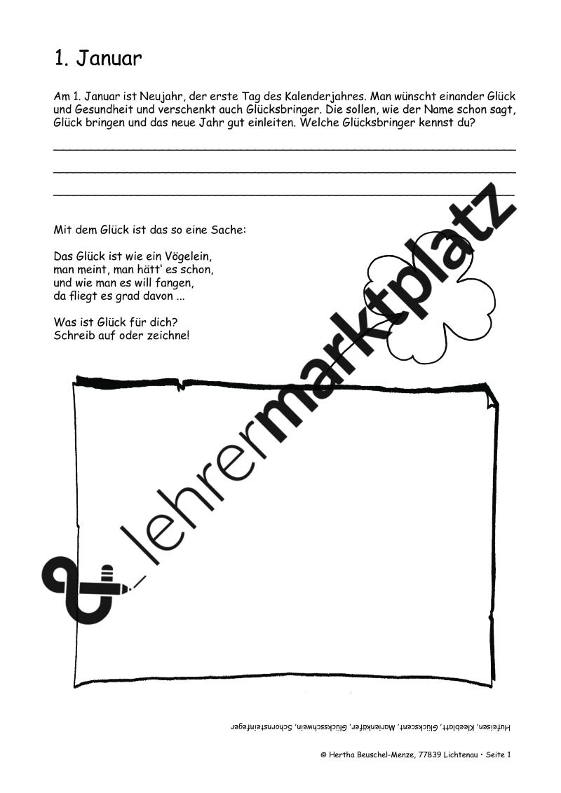 365+1 Vertretungsstunden: Monatspaket Januar – DaZ / DaF, Deutsch ...