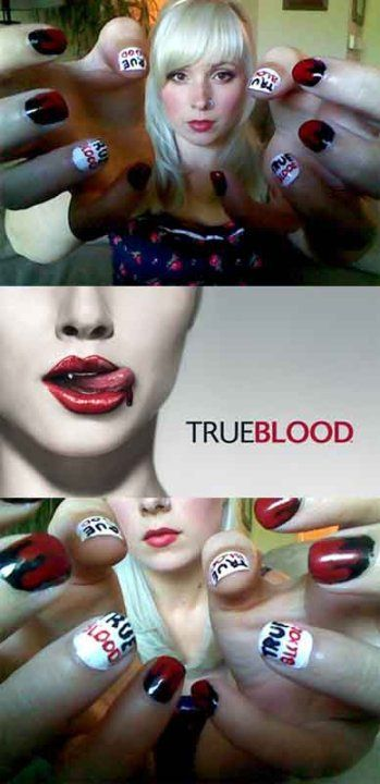 True Blood nails by TinyTangerines