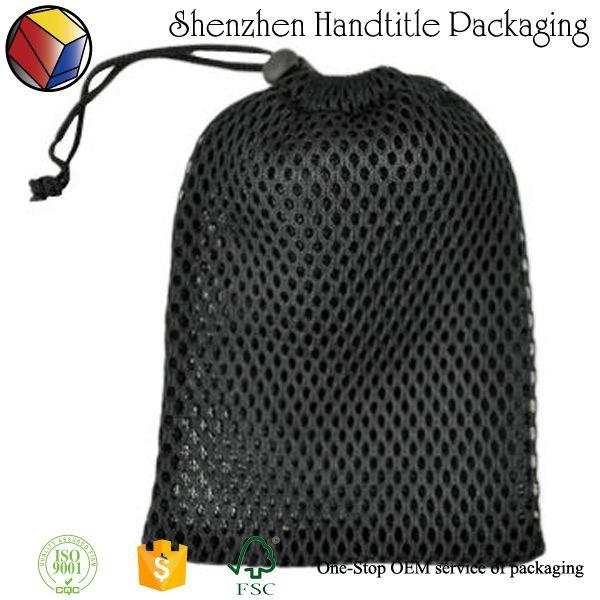 custom drawstring mesh pouch Black small nylon mesh drawstring bag ... 062dd4551d65
