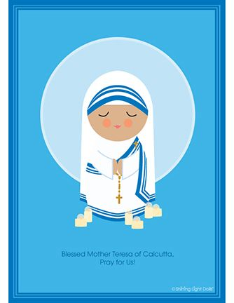 Blessed Mother Teresa By Shining Light Dolls Imágenes Religiosas Madre Teresa Imágenes Catolicas