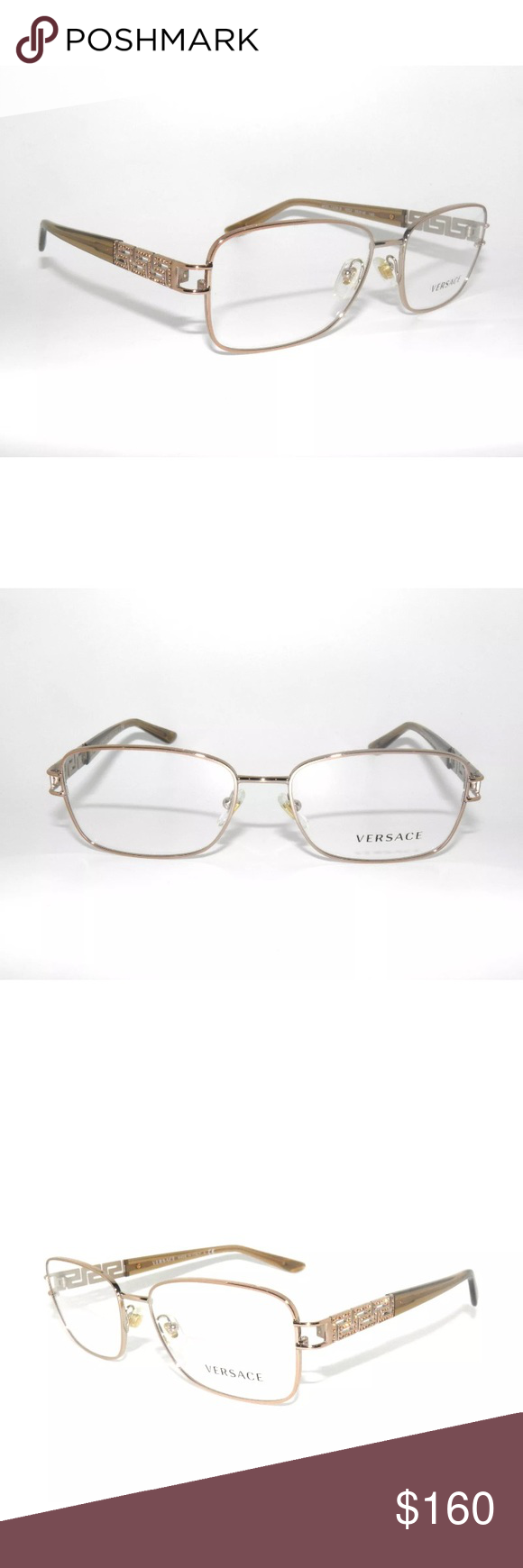 b048c14b896 Versace Eyeglasses 1229 Rose Gold Frame No prescription yet Authentic New  Comes with Versace case. Versace Accessories Glasses