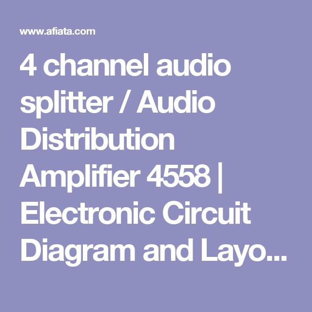 4 channel audio splitter / Audio Distribution Amplifier 4558