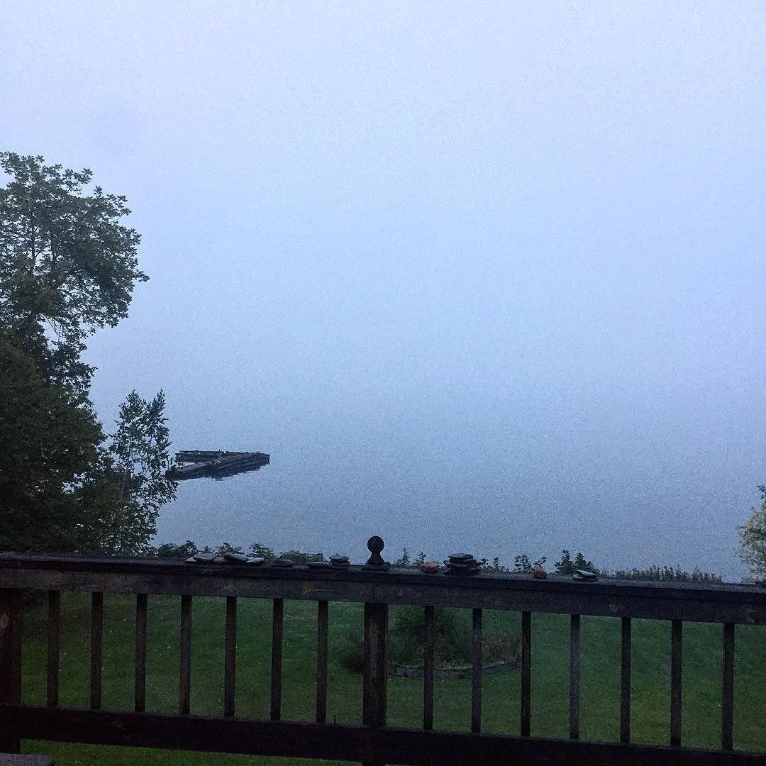 Morning fog.#LakeSuperior #Bayfield #Wisconsin