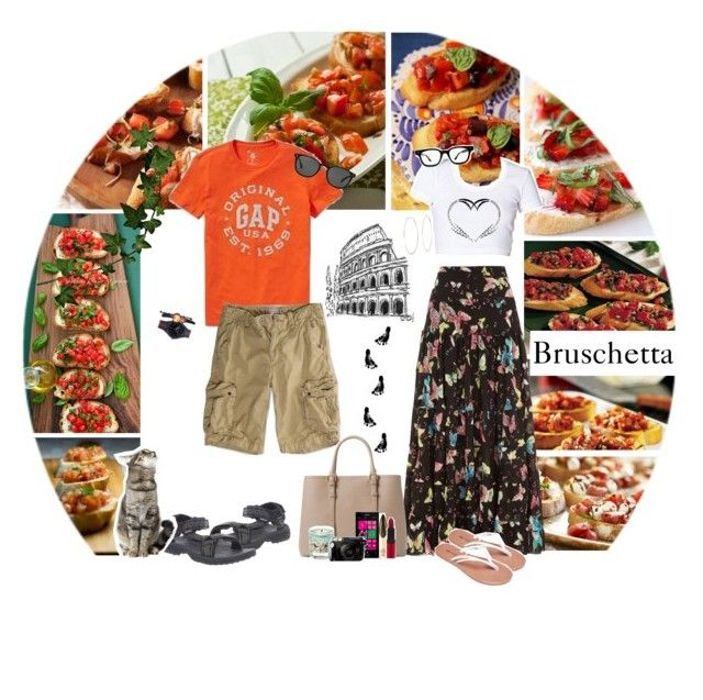 """""""#5 Bruschetta / Food Challenge"""" by jillinchen ❤ liked on Polyvore featuring Mela Loves London, Gap, American Eagle Outfitters, Teva, Wet Seal, Michael Kors, MANGO, Naomi Campbell, Rimmel and Nokia"""