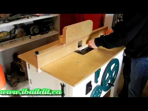 Router table 3 w adjustable height video shop stuf pinterest router table 3 w adjustable height video greentooth Gallery