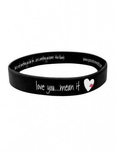 Peace Love World Clothing You Mean It Black Silicone Bracelet Bracelets Accessories