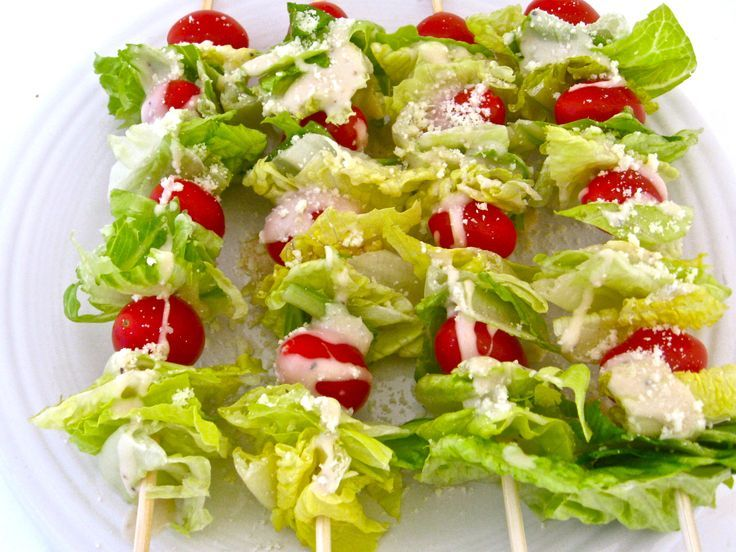 Super Low Calorie Caesar Salad on a Stick. Here's a NEW twist on ...