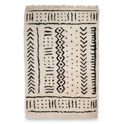 Mudcloth Hand Knotted Wool Rug