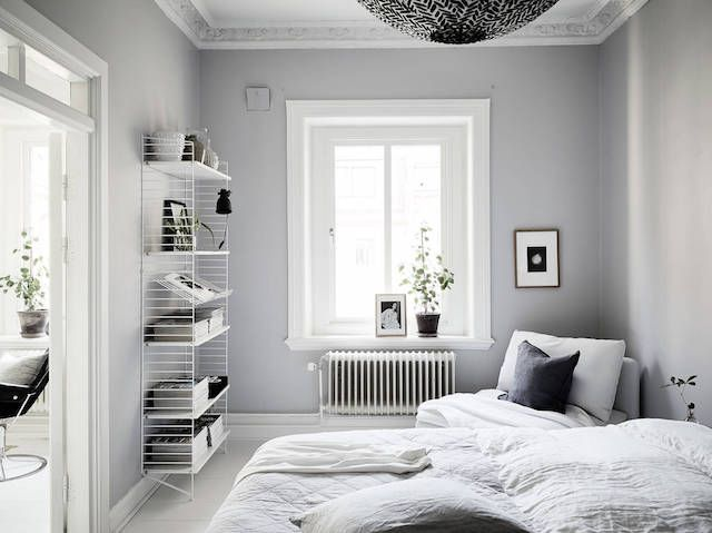 Bedroom inspiration | | String Shelving System available at www.isrome.co.uk