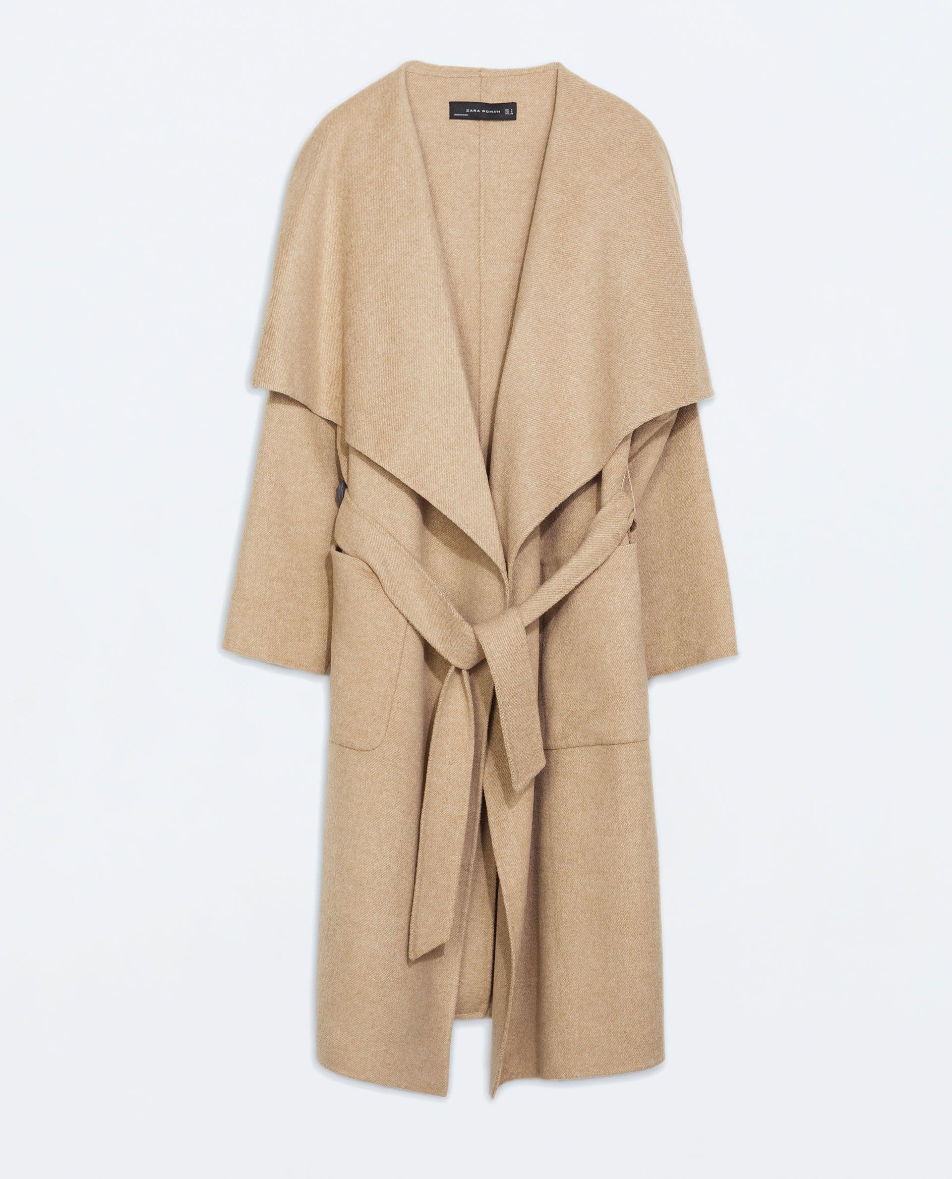 Nude Tall LONG woolen COAT from Zara | My Style | Pinterest ...